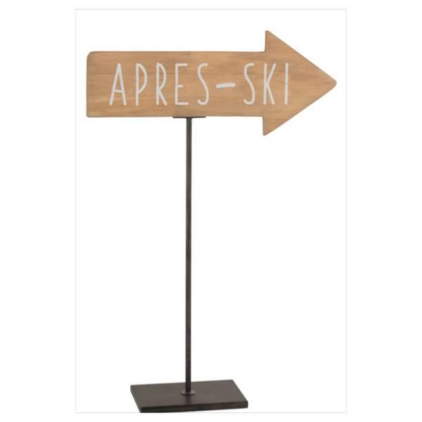 Skilt/Pil på fot - After Ski