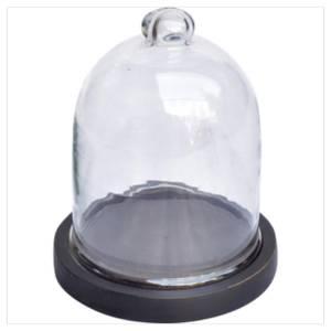 Bilde av Glassklokke med sort trebase