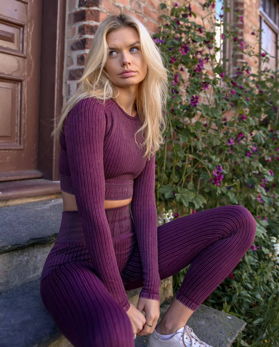 We Are Fit Tights Plum Vintage Seamless