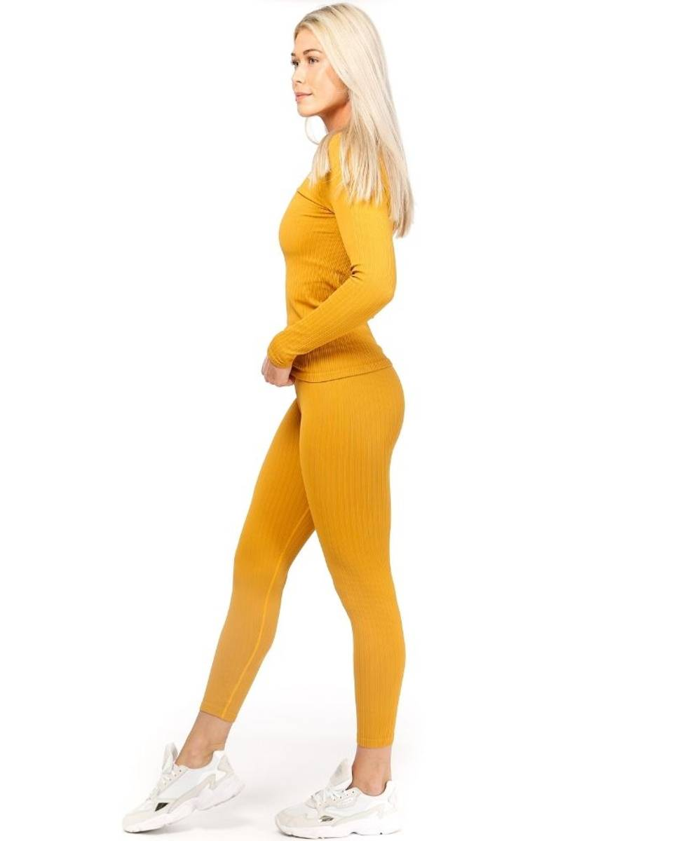 We Are Fit Chai Tights Ribbed Seamless