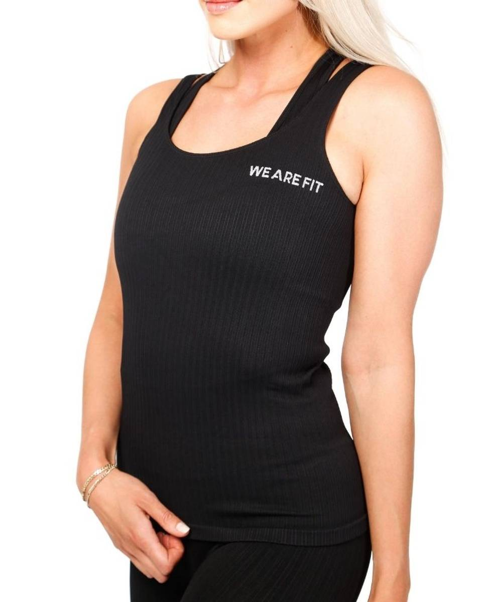 We Are Fit Tank Black Ribbed Seamless
