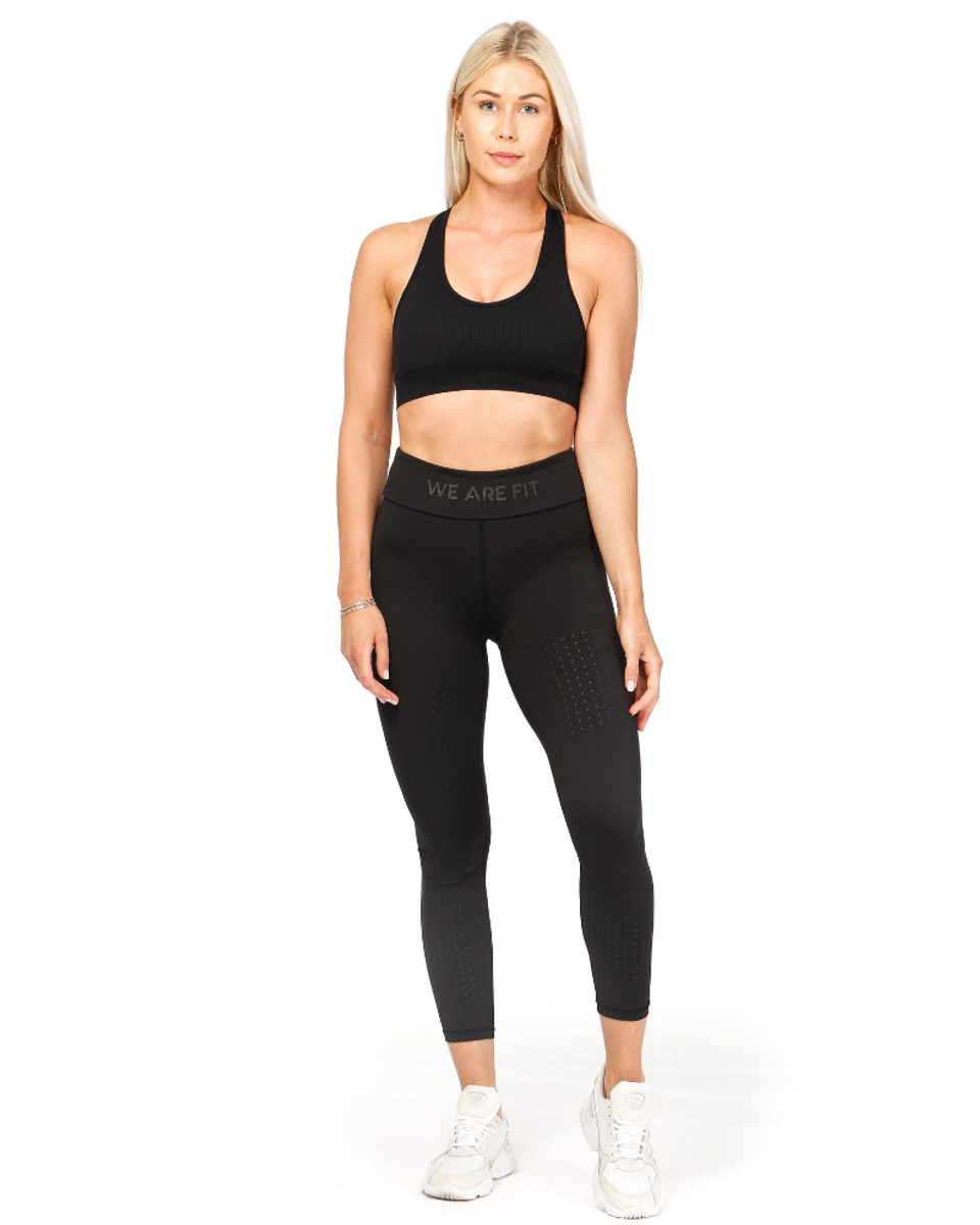We Are Fit 7/8 Black Squad Tights