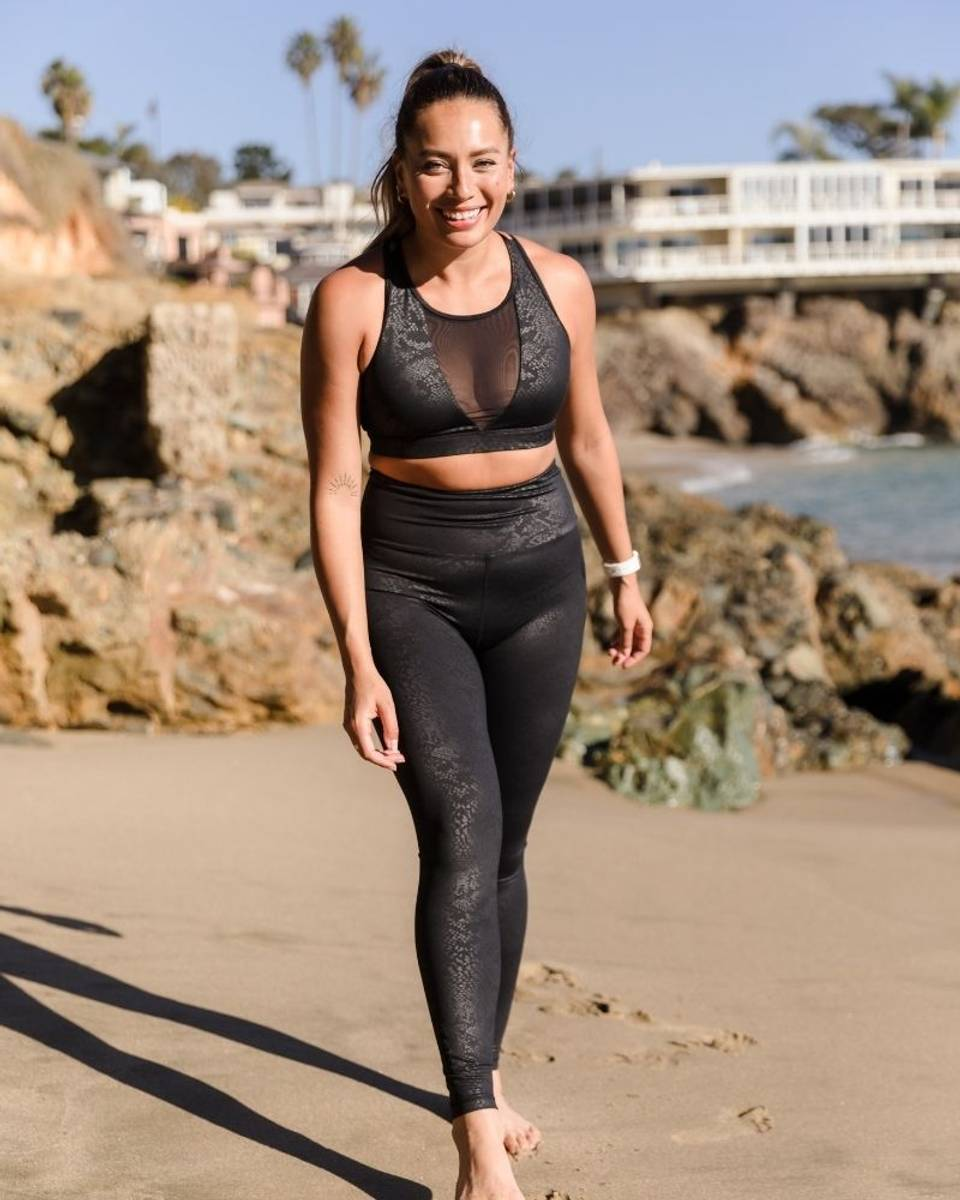 We Are Fit Tights Black Snake Spandex