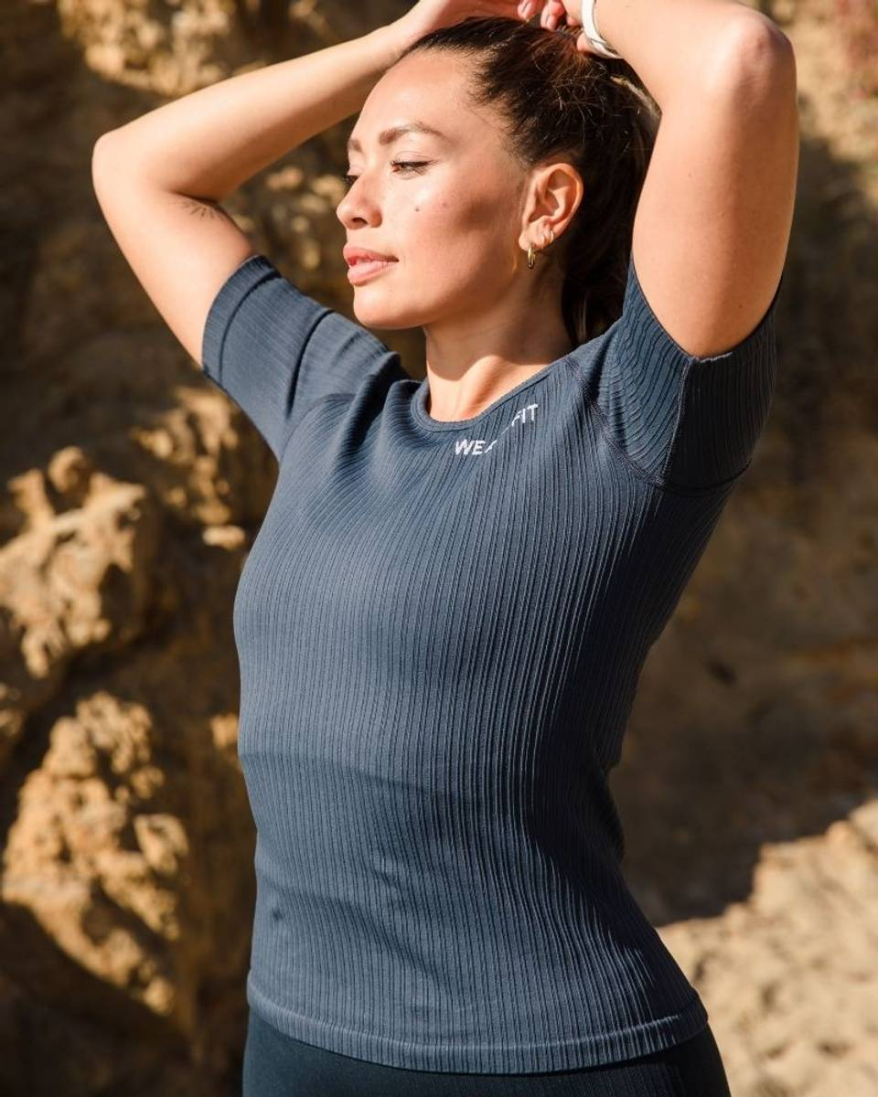 We Are Fit Tee Midnight Ribbed Seamless