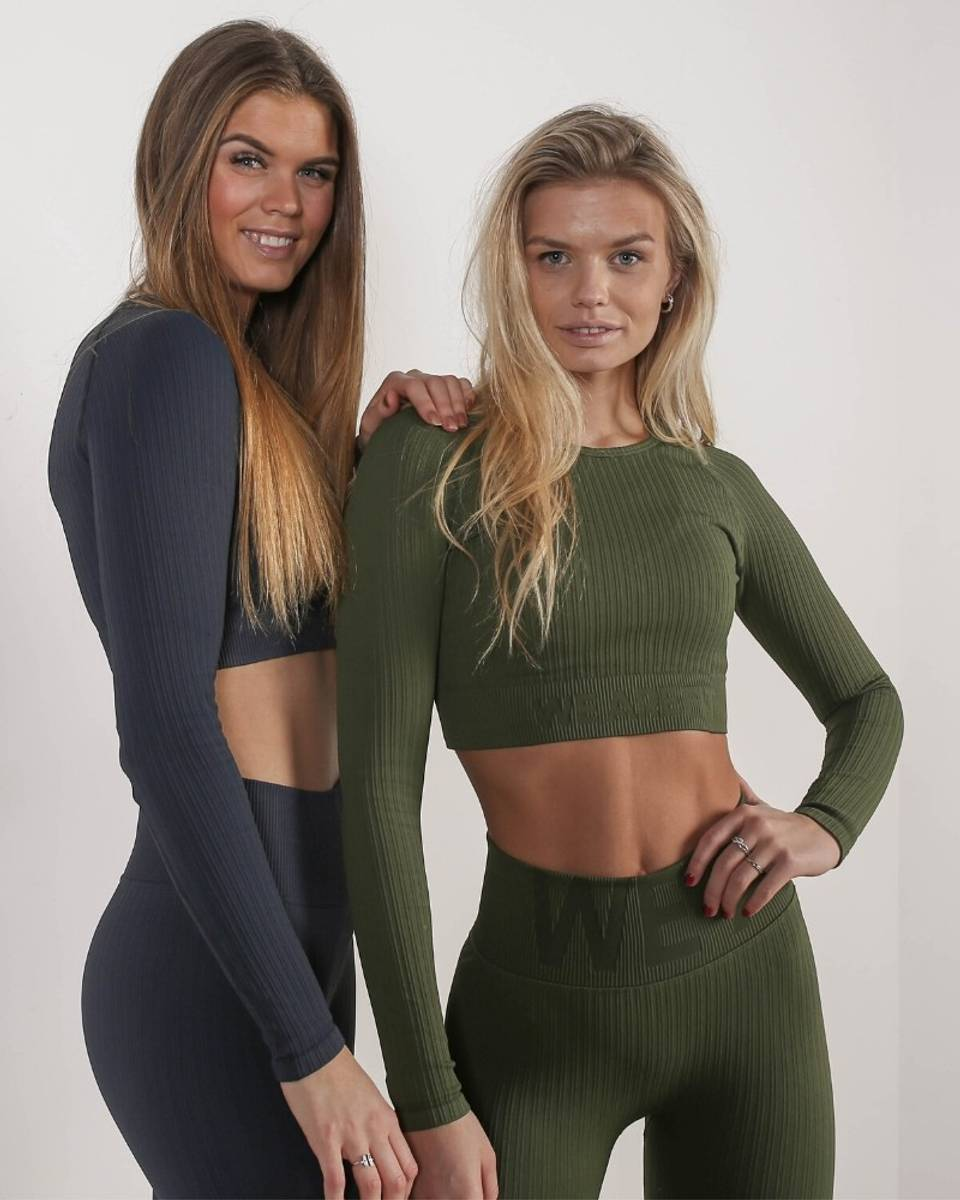 We Are Fit Forrest Top Ribbed Seamless Crop Longsleeve