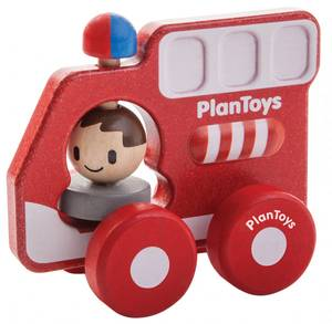 Bilde av PlanToys Brannbil i tre