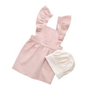 Bilde av Sebra barneforkle m/kokkelue dusty pink/classic