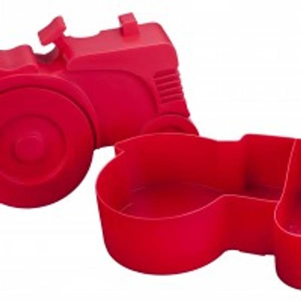 Blafre Matboks i plast, Traktor, (Rød)