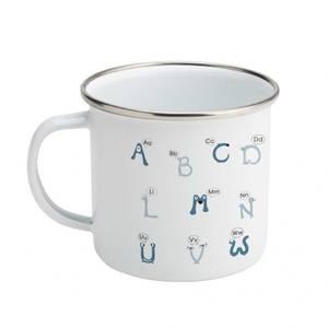 Bilde av Alfabetika Ut-På-Tur Kopp bokstaver blå