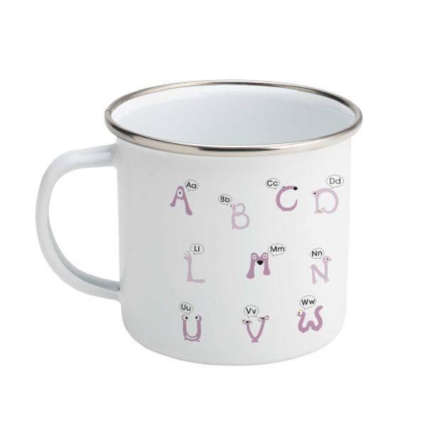 Alfabetika Ut-På-Tur Kopp bokstaver syrin