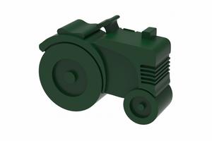 Bilde av Blafre Matboks i plast, Traktor, (Mørk grønn)