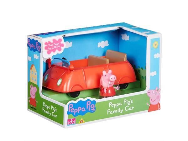 Peppa gris rød bil