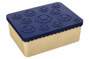 Bilde av Blafre matboks i plast treroms blomst marineblå