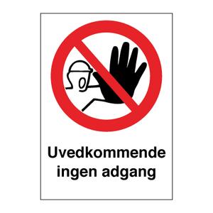 Bilde av Uvedkommende ingen adgang - Forbudsskilt med symbol og tekst