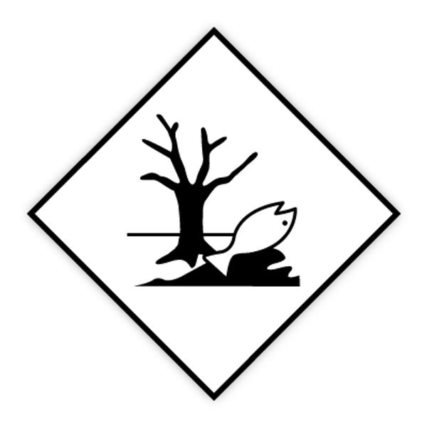 Merke for miljøfare - fareseddel