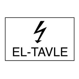 Bilde av Skilt for el-tavle med symbol og tekst
