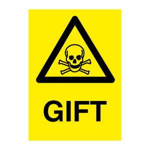 Bilde av GIFT - Fareskilt med symbol og tekst