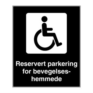 Bilde av Handikapparkering - parkeringsskilt med symbol og tekst