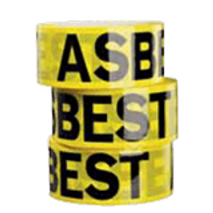Bilde av Asbesttape - Gul varseltape for asbest 50 mm x 66 m