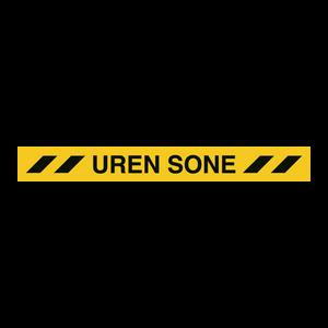 Bilde av Uren sone gulvskilt - gulvtape 100 x 1000 mm