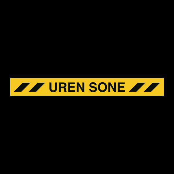 Uren sone gulvskilt - gulvtape 100 x 1000 mm