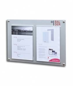Bilde av Oppslagstavle med plass til 2x A4 sider 550x400mm