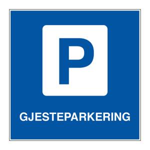 Bilde av Parkeringsskilt - Gjesteparkering med symbol og tekst