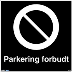 Bilde av Privatrettslig Parkering forbudt skilt 50 x 50 cm