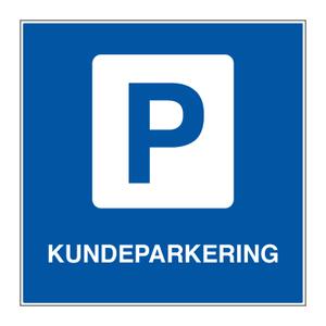 Bilde av Parkeringsskilt - Kundeparkering med symbol og tekst
