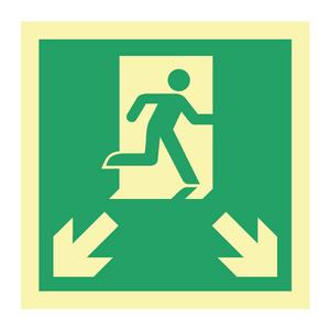 Bilde av Etterlysende markeringsskilt for rømningsveier