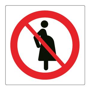 Bilde av Forbudt for gravide kvinner - Forbudsskilt med symbol