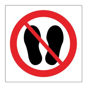 Bilde av Adgang forbudt med sko - Forbudsskilt med symbol