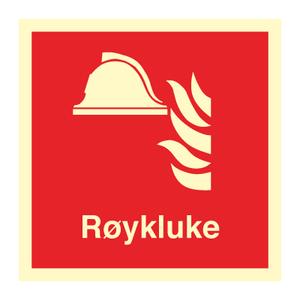 Bilde av Røykluke - Brannskilt med symbol og tekst