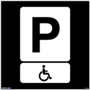 Bilde av Privatrettslig skilt - handikap-parkering 50 x 50 cm