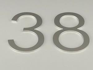 Bilde av utskjærte tall i aluminium