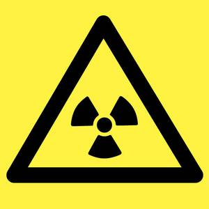 Bilde av Ioniserende stråling - Fareskilt med symbol