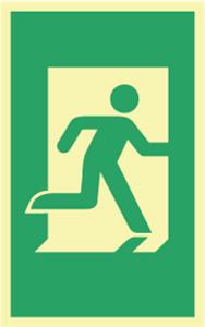 Bilde av Nødutgang skilt dørhåndtak 160 x 100mm