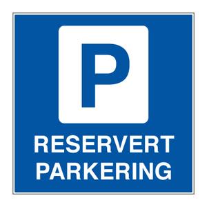 Bilde av Reservert parkering - parkeringsskilt med symbol og tekst