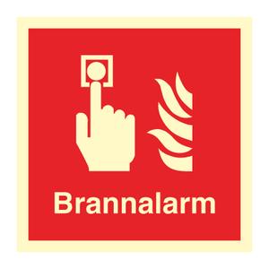 Bilde av Brannalarm - Brannskilt med symbol og tekst