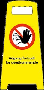 Bilde av Forbudsskilt - Adgang forbudt gulvskilt