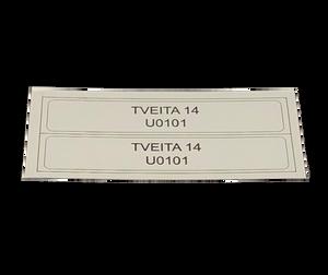 Bilde av Adressemerke for bruksenhetsnummer - 2 stk