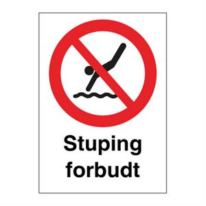 Bilde av Stuping forbudt - Forbudsskilt med symbol og tekst