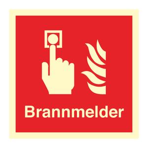 Bilde av Brannmelder - brannskilt med symbol og tekst
