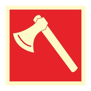 Bilde av Brannøks - brannskilt med symbol