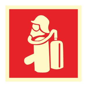 Bilde av Røykdykkerutstyr - Brannskilt med symbol