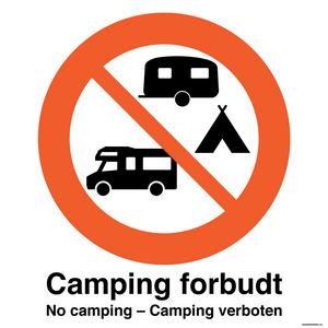 Bilde av Camping forbudt skilt 500 x 500 mm