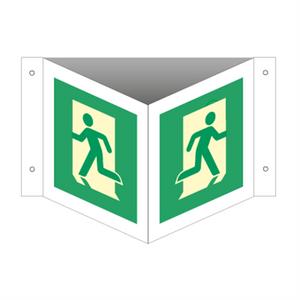 Bilde av Nødutgangsskilt for rømningsvei - Plogskilt
