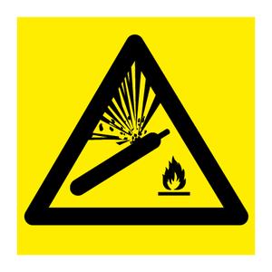 Bilde av Fareskilt med symbol - Gass under trykk