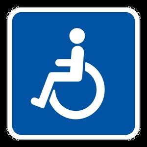 Bilde av Handicap-parkering - Skilt med symbol
