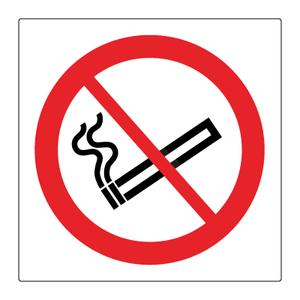 Bilde av Røyking forbudt skilt - Forbudsskilt med symbol